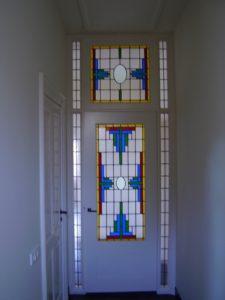 reparatie glas in lood paneeldeur